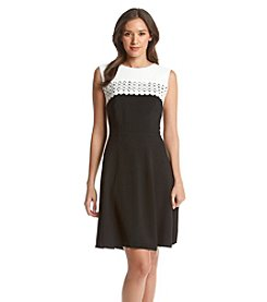 Madison Leigh® Two Tone Crochet Dress