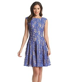 Julian Taylor Seamed Fit And Flare Dress