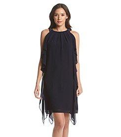 AGB® Asymmetrical Hem Sheath Dress