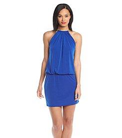Jessica Simpson Halter Blouson Dress