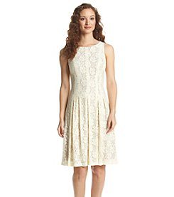Ivanka Trump® Lace Pleated Dress