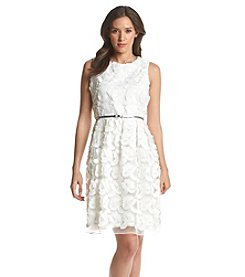 Calvin Klein Lace Party Fit And Flare Dress