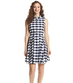 Nine West® Plaid Shirt Dress