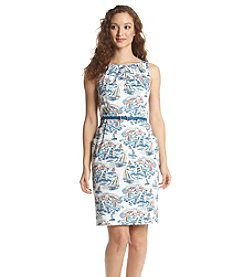 Nine West® Boat Print Sheath Dress