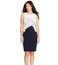 Lauren Ralph Lauren® Lace Crepe Dress