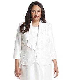 Kasper® Plus Size Shiny Detailed Jacket