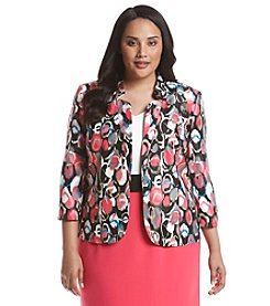 Kasper® Plus Size Multi Circle Print Jacket
