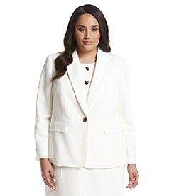 Kasper® Plus Size Crepe Peak Lapel Jacket