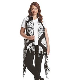 Oneworld® Plus Size Tie Dye Maxi Vest