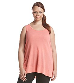 Calvin Klein Performance Plus Size Solid Keyhole Tank