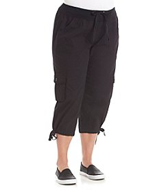 Calvin Klein Performance Plus Size Cargo Cropped Pants