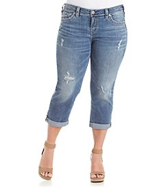 Silver Jeans Co. Plus Size Aiko Mid Capri Jeans