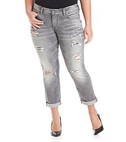 Silver Jeans Co. Plus Size Suki Mid Slim Ankle Jeans