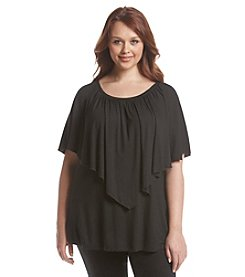 Chelsea & Theodore® Plus Size Flutter Sleeve Popover Top