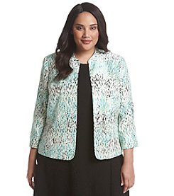 Kasper® Plus Size Speckle Print Jacket