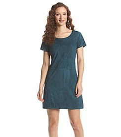 Bobeau Faux Suede Shift Dress