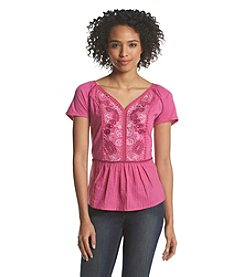 Vintage America Blues™ Embroidered Flare Top