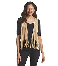 G.H. Bass & Co. Faux Suede Fringe Vest