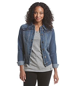 Ruff Hewn Petites' French Terry Denim Jacket