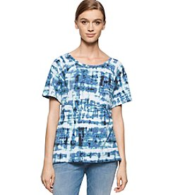 Calvin Klein Jeans® Abstract Plaid Tee