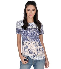 Lucky Brand® Zip Back Tee