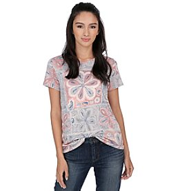 Lucky Brand® Flower Patchwork Tee