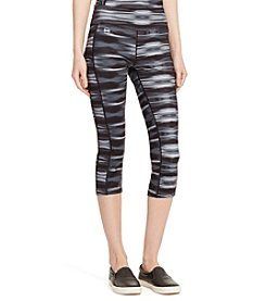Lauren Active® Graphic-Print Cropped Leggings