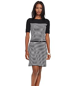 Lauren Ralph Lauren® Striped Cotton Dress