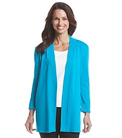 Laura Ashley® Open Front Solid Cardigan
