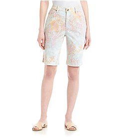 Gloria Vanderbilt® Amanda Bermuda Shorts With Embelished Pockets