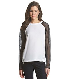 MICHAEL Michael Kors® Sheer Sleeve Raglan Top
