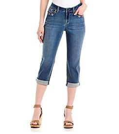 Earl Jean® Cuffed Bling Flap Pocket Capris