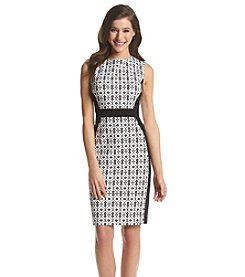 Nine West® Framed Jacquard Dress