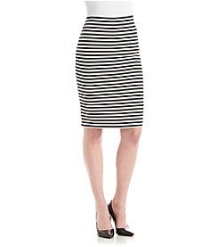 Nine West® Striped Ponte Skirt