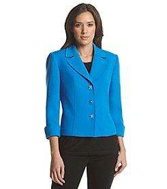 Tahari ASL® Button-Up Ponte Jacket