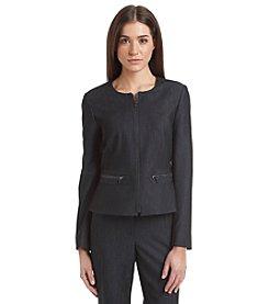Calvin Klein Zip Front Peplum Jacket