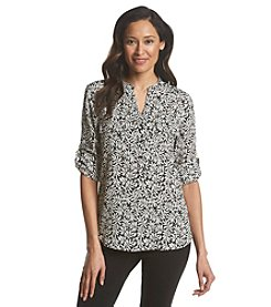 Ivanka Trump® Leaves Print Blouse