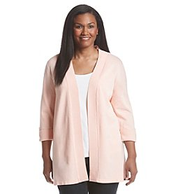 Laura Ashley® Plus Size Solid Cardigan