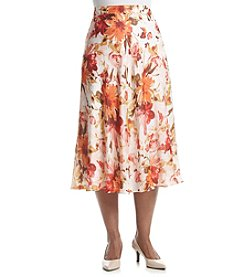 Laura Ashley® Plus Size Peony Print Skirt