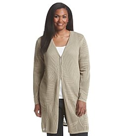 Laura Ashley® Plus Size Palm Tunic Cardigan