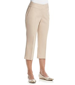 Laura Ashley® Petites' Solid Twill Crops
