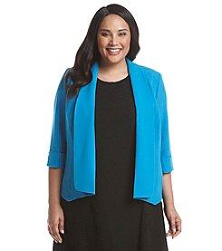Kasper® Plus Size Drape Front Jacket