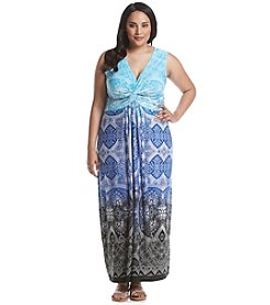Rafaella® Plus Size Dip Dye Print Dress