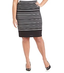Rafaella® Plus Size Parallel Party Skirt