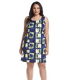 Relativity® Plus Size Prism Print Scuba Dress