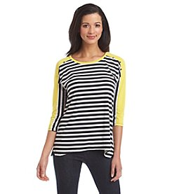 Notations® High Low Stripe Top
