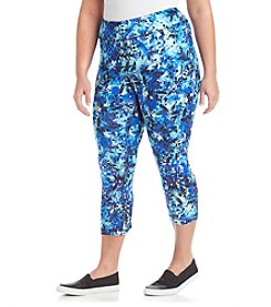Exertek® Plus Size Leaf Crop Pants