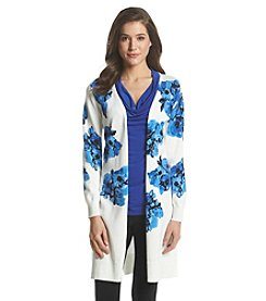 Relativity® Floral Print Duster Cardigan