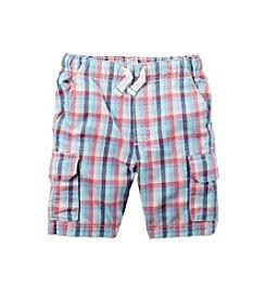 Carter's® Boys' 2T-7 Plaid Cargo Shorts