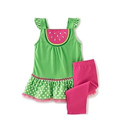 Kids Headquarters® Baby Girls' Watermelon Tunic and Leggings Set